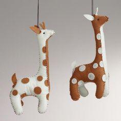 One of my favorite discoveries at WorldMarket.com: Felt Giraffe Ornaments, Set of 2