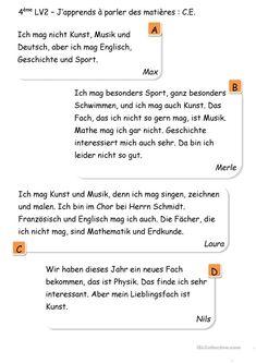 das Fachbarometer - Deutsch Daf Arbeitsblatter Middle School, Elementary Schools, Math Resources, Deutsch, Word Reading
