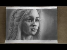 Emilia Clarke ( Khaleesi , Daenerys Targaryen from Game of Thrones ) pencil drawing - YouTube