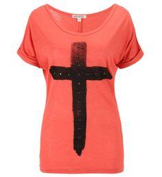 Best MountainTee-shirt imprimé croix et studs Orange