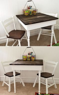 Kids table made from recycled pallets