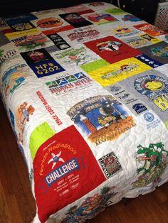 Custom order for Melanie - queen size tshirt quilt