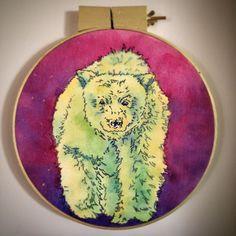Spirit Bear Canvas, screen print, gouache www.kileygranberg.com #Motetprintshop Gouache, Copper Jewelry, Jewelry Art, Spirit Bear, Canadian Art, Unique Art, Screen Printing, Jewels, Canvas