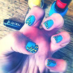 Cheetah nails by Liv Faure!