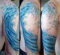 Wave Tattoos Men's Designs