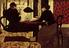 Deux Femmes sous la Lampe  -  Edouard Vuillard  1892  French 1868-1940