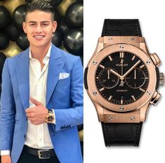 Bayern Munich's colombian star player @jamesrodriguez10 spotted with the @hublot Classic Fusion Chronograph King Gold 👑💫 Price: $28,700 💵 Cheers Epicureans! 🥂 Thanks @superwatchman for sharing! _____________ #jamesrodriguez #football #footballplayer #soccerplayer #bayern #bayernmunich #munich #hublot #hublotwatch #gold #goldwatch #blackwatch #geneva #switzerland #swisswatch #iconic #model #iconicmodel #concept #amazingwatch #watch #watches #time #rich #billio.. Amazing Watches, Cool Watches, Hublot Classic Fusion, Best Watch Brands, Hublot Watches, Geneva Switzerland, James Rodriguez, Gold Price, Football Players