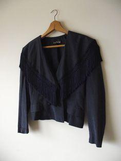 Midnight Blue Joseph Ribkoff Raw Silk Dress Jacket with by shop454, $59.00