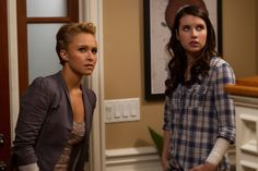 Hayden Panettiere and Emma Roberts in Scream 4