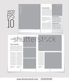 Set of layouts. Open magazine, vector Illustration.