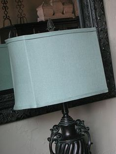 Aha a slip cover lamp shade now i dont have to go out and buy any how to recover a lampshade great pics and instructions for a professional looking finished lampshade mozeypictures Gallery