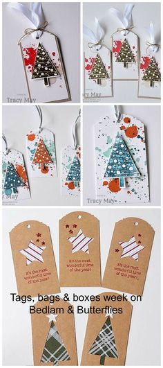 Stampin' Up! UK Demonstrator, Tracy May - Tags, bags & boxes week. Day 1 - Christmas Tags
