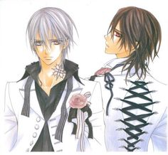 Zero    Kaname    Vampire knight What's with the corset thing!?!?