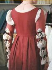 robe florentine - détails des manches