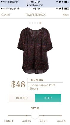 I'd prefer brighter colors for summer, but still a pretty blouse.