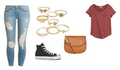 """""""Untitled #693"""" by littlewonder2504 ❤ liked on Polyvore featuring Mudd, H&M, Frame Denim, Converse and MICHAEL Michael Kors"""