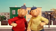 While hammering, sawing and drilling, these two do-it-yourself neighbours make their own houses unsafe. In PAT & MAT THE FILM the good. Good Old Times, Funny People, Best Funny Pictures, Childhood Memories, Bowser, Mickey Mouse, Dinosaur Stuffed Animal, Disney Characters, Fictional Characters
