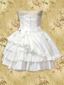 short, sleeveless satin dress