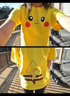 Pikachu Shirt cutest thing ever. This would be the only colored shirt I wear. Pokemon Birthday, Pokemon Party, 8th Birthday, Vinyl Shirts, Cool Shirts, Geek Fashion, Look Cool, Style Me, Cute Outfits