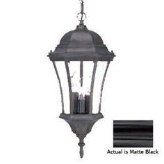 Shop Acclaim Lighting Brynmawr 20-in Matte Black Outdoor Pendant Light at Lowes.com