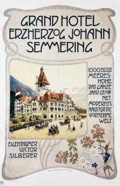 Erzherzog Johann Vintage Posters, Modern, Hotels, Travel, Poster Vintage, Trendy Tree, Viajes, Destinations, Traveling