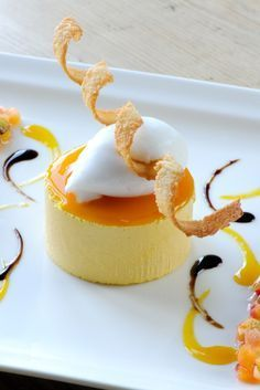 What could be better for a summers day dessert, than this parfait recipe from Mark Dodson which serves a mango parfait with coconut sorbet