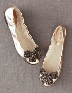 I've spotted this @BodenClothing Embellished Ballet Flats Rose Gold Metallic