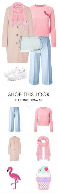 """""""Amazing winter look in soft colors"""" by yuliaplehanova-1 ❤ liked on Polyvore featuring P.A.R.O.S.H., Alexandra Golovanoff, Acne Studios, Johnstons of Elgin and Kate Spade"""