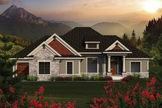 Home Plans HOMEPW76941 - 2,291 Square Feet, 3 Bedroom 2 Bathroom Craftsman Home with 3 Garage Bays