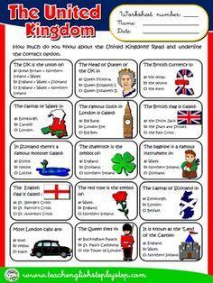 The United Kingdom - Worksheet