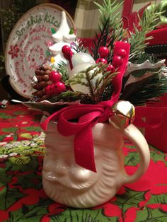vintage Christmas Santa mug