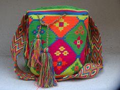 Items similar to Handmade WAYUU MOCHILA Bag from Columbia on Etsy
