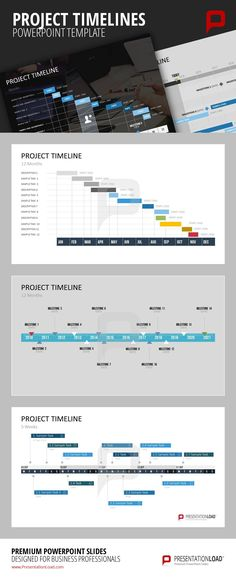 91 best Project Management    PowerPoint Templates images on     The bigger the task  the more important it becomes to keep track of the  current      Project timeline templateTimeline