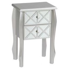 Virginia Side Table in Silver