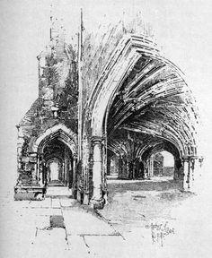 Herbert_Railton_-_Arches_of_Crypt.jpg (1450×1772)