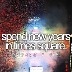 Spend New Years in Times Square!!
