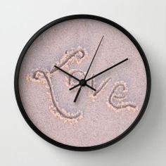 Love Clock Sand White Tan Black Wall Room by PhotographybyLadybug, $50.00