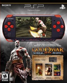 Game Console PlayStation Portable Limited Edition God of War Ghost of Sparta Entertainment Pack - Red/Black Console Voucher Code, Mythological Monsters, M&m Game, Custom Consoles, Playstation Portable, Blacked Videos, New Gods, God Of War, Entertainment