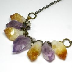 Amethyst And Citrine Necklace now featured on Fab.  Haus of Topper