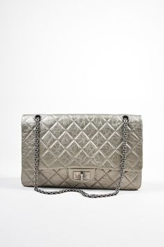 db38d895283d Metallic Silver Leather Chanel