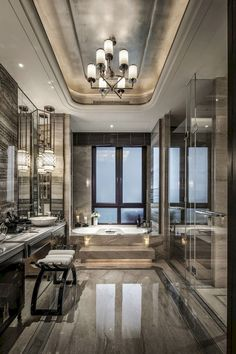 Have a look at these amazing projects and be inspired! #luxuryhome #interiordesign #luxurydesign #moderndesign #luxuryinterior #contemporarydesign #interiordesignproject Luxury Master Bathrooms, Modern Master Bathroom, Dream Bathrooms, Beautiful Bathrooms, Modern Bathrooms, Minimal Bathroom, Farmhouse Bathrooms, Small Bathrooms, Luxurious Bathrooms