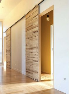 INTERIOR- The doors provide privacy and reduce noise between premises. If it comes to a smaller space, sliding doors are suitable option, because the opening and closing take up less space than con… Barn Style Doors, House Design, House Interior, Wood Doors Interior, Sliding Barn Door Hardware, Interior, Sliding Doors Interior, Sliding Doors, Sliding Door Design