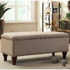for storage bench, with (wrought iron) baseboards hiding legs?) US $107.98 New in Home & Garden, Furniture, Benches & Stools