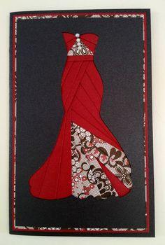 iris folding dress cards - Cerca con Google                                                                                                                                                                                 More