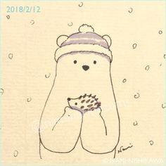 1410 雪のはりこちゃん a snow hedgehog