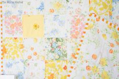 Maybe this is my fourth or fifth patchwork quilt made from vintage sheets? The patchwork blankets Ive made with vintage sheets. Jelly Roll Quilt Patterns, Patchwork Quilt Patterns, Patchwork Blanket, Quilting Patterns, Sewing Patterns, Old Sheets, Vintage Sheets, Vintage Quilts, Linen Rentals