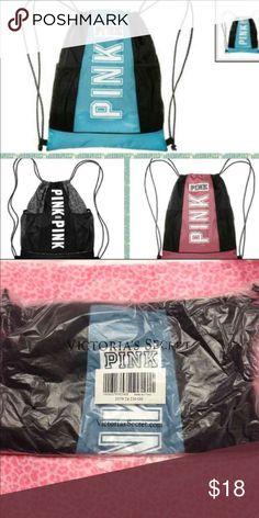 Victoria Secret Drawstring backpack NWT Blue Bags Backpacks