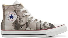 1f62a59807ed mys Converse All Star Personalisierte Schuhe - Handmade Shoes - Marilyn  Monroe - TG39  Amazon