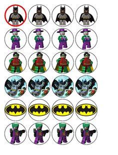 24 Lego Batman Cupcake Toppers by PPGifts on Etsy, Lego Batman Birthday, Batman Party, Superhero Party, 4th Birthday Parties, Boy Birthday, Birthday Ideas, Bottle Cap Images, Bottle Caps, Bottle Labels