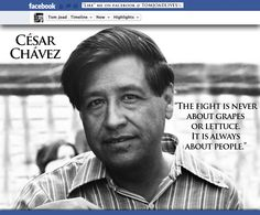 March 31, 2013  http://www.biography.com/people/cesar-chavez-9245781